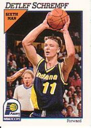 1991-92 Hoops #87 Detlef Schrempf