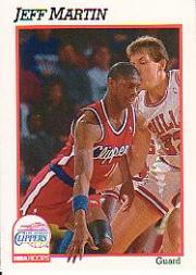 1991-92 Hoops #95 Jeff Martin