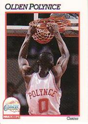 1991-92 Hoops #97 Olden Polynice