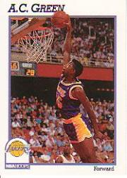 1991-92 Hoops #100 A.C. Green