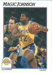 1991-92 Hoops #101 Magic Johnson