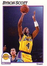 1991-92 Hoops #103 Byron Scott