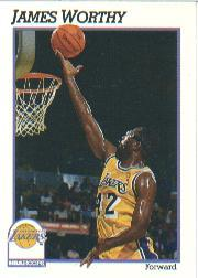1991-92 Hoops #106 James Worthy