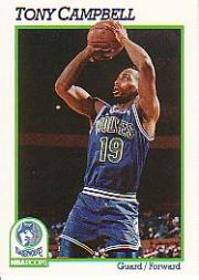 1991-92 Hoops #124 Tony Campbell