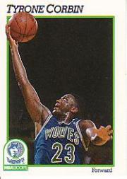 1991-92 Hoops #125 Tyrone Corbin