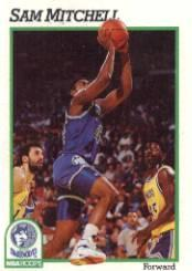 1991-92 Hoops #127 Sam Mitchell