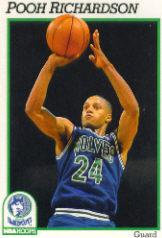 1991-92 Hoops #129 Pooh Richardson