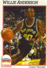 1991-92 Hoops #188 Willie Anderson