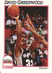 1991-92 Hoops #192 David Greenwood