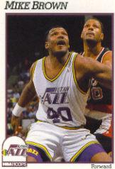 1991-92 Hoops #206 Mike Brown