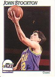 1991-92 Hoops #212 John Stockton