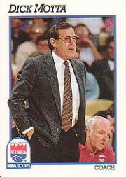 1991-92 Hoops #243 Dick Motta CO