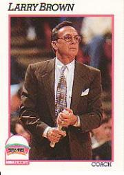 1991-92 Hoops #244 Larry Brown CO