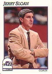 1991-92 Hoops #246 Jerry Sloan CO