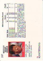 1991-92 Hoops #247 Wes Unseld CO back image