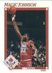 1991-92 Hoops #266 Magic Johnson AS