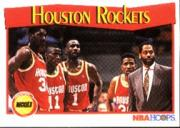 1991-92 Hoops #283 Houston Rockets