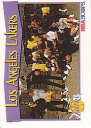 1991-92 Hoops #286 Los Angeles Lakers