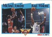 1991-92 Hoops #306 M.Jordan/K.Malone LL