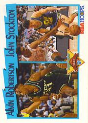 1991-92 Hoops #310 Steals League Leaders