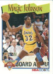 1991-92 Hoops #316 Magic Johnson MS