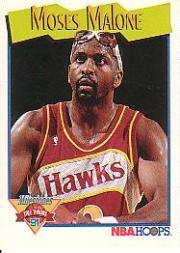 1991-92 Hoops #318 Moses Malone
