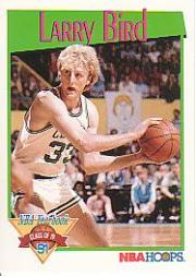 1991-92 Hoops #319 Larry Bird YB