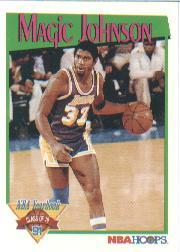 1991-92 Hoops #321 Magic Johnson YB