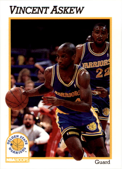 1991-92 Hoops #365 Vincent Askew RC
