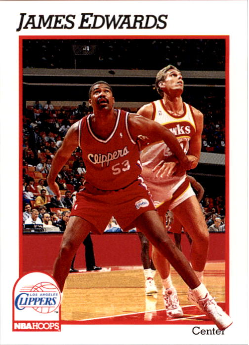 1991-92 Hoops #378 James Edwards