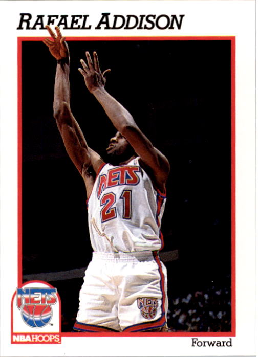 1991-92 Hoops #398 Rafael Addison RC