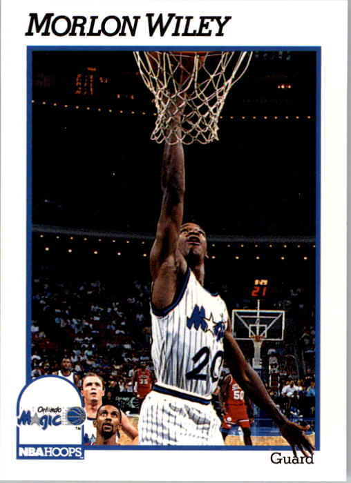 1991-92 Hoops #410 Morlon Wiley