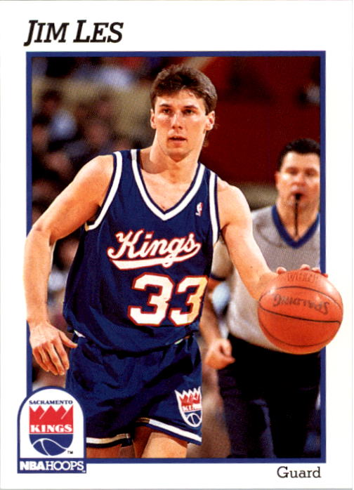 1991-92 Hoops #428 Jim Les RC