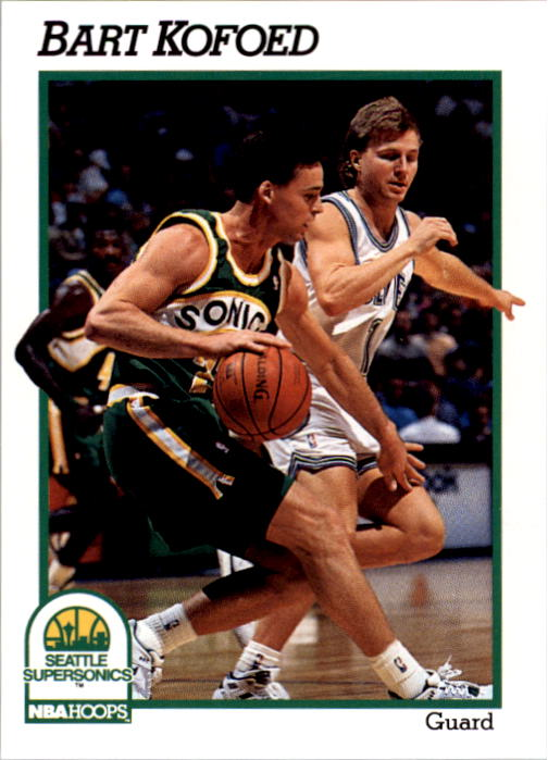 1991-92 Hoops #440 Bart Kofoed RC