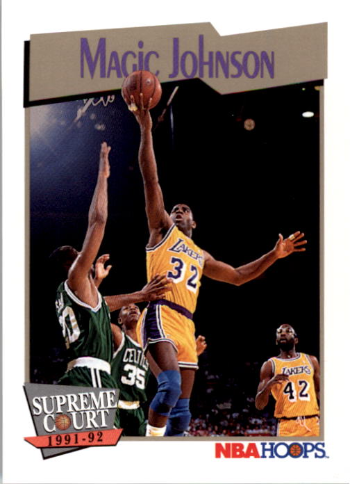 1991-92 Hoops #473 Magic Johnson SC