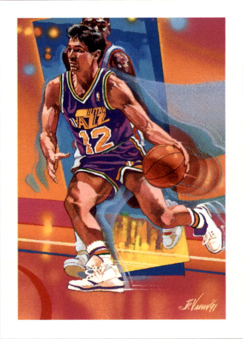 1991-92 Hoops #528 John Stockton TC