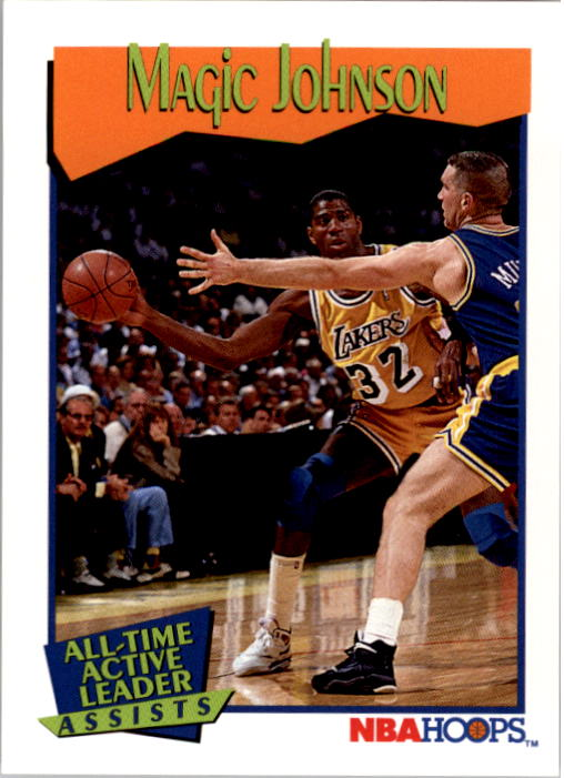 1991-92 Hoops #535 Magic Johnson AL