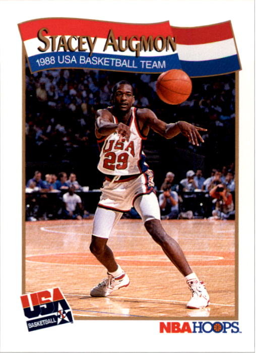 1991-92 Hoops #566 Stacey Augmon USA