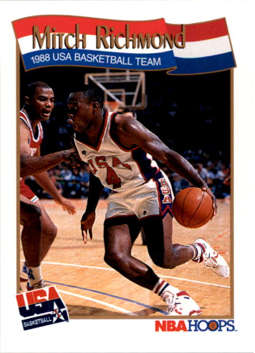 1991-92 Hoops #573 Mitch Richmond USA