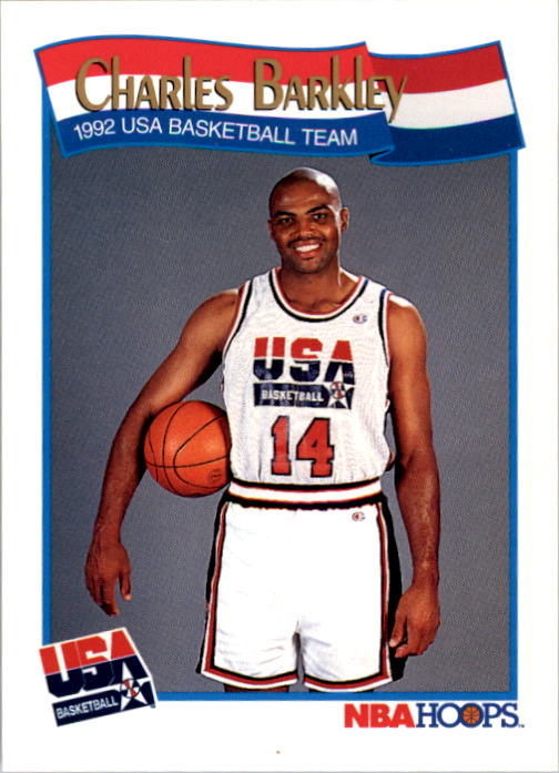 1991-92 Hoops #575 Charles Barkley USA