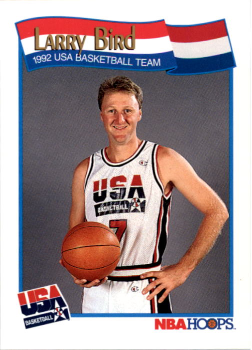 1991-92 Hoops #576 Larry Bird USA