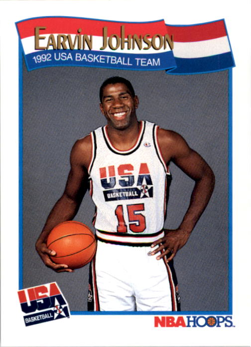 1991-92 Hoops #578 Magic Johnson USA