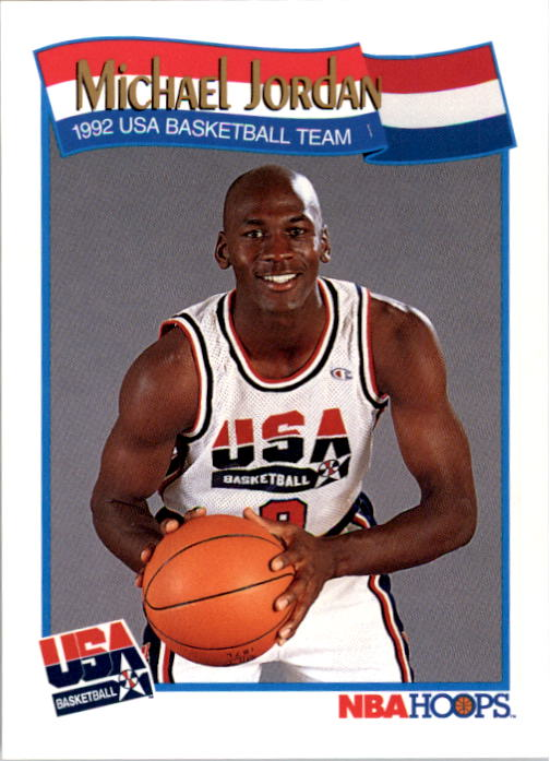 1991-92 Hoops #579 Michael Jordan USA