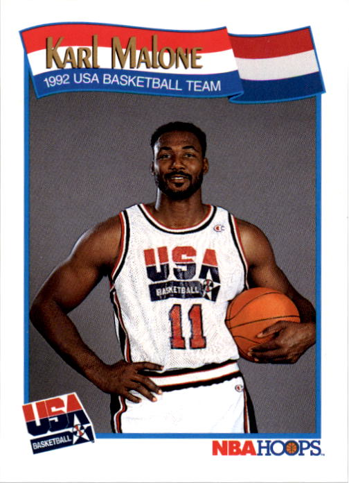 1991-92 Hoops #580 Karl Malone USA