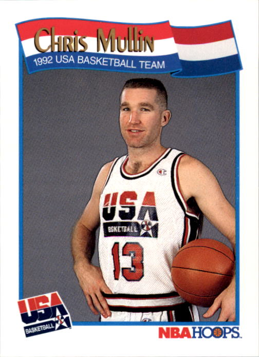 1991-92 Hoops #581 Chris Mullin USA