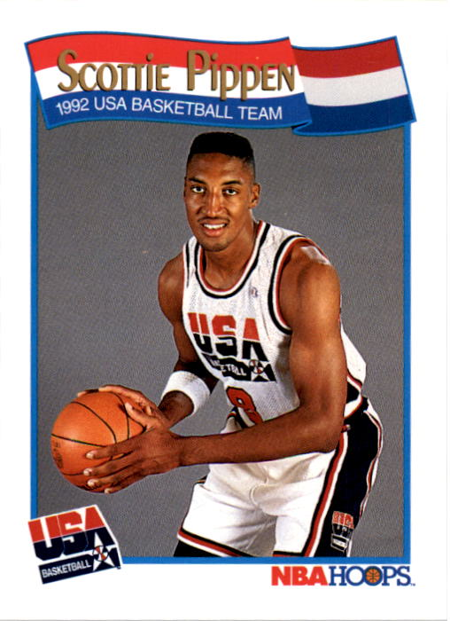 1991-92 Hoops #582 Scottie Pippen USA