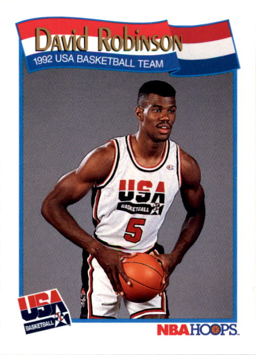 1991-92 Hoops #583 David Robinson USA