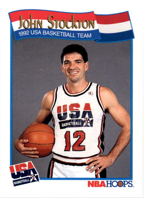 1991-92 Hoops #584 John Stockton USA