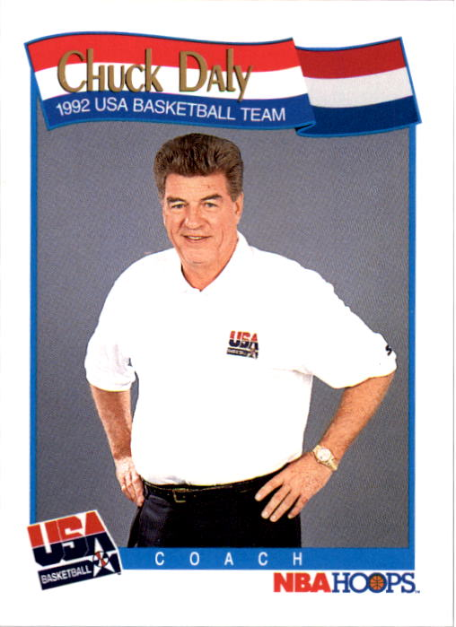 1991-92 Hoops #585 Chuck Daly CO