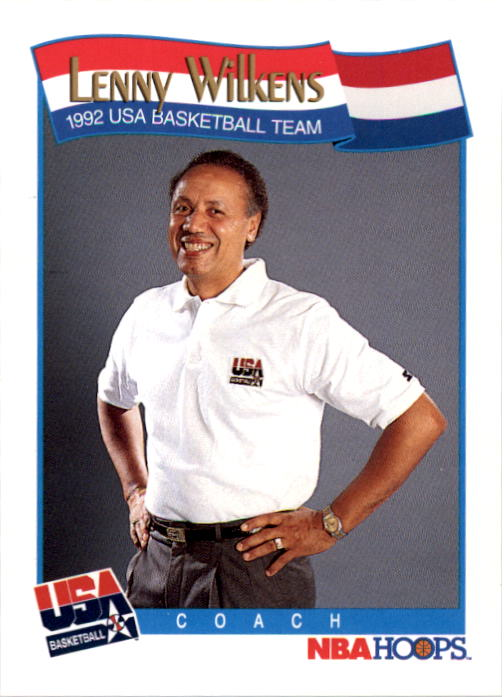 1991-92 Hoops #586 Lenny Wilkens CO